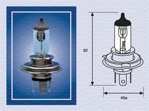 žiarovka pre diaľkový svetlomet MAGNETI MARELLI STANDARD -  - H4, 24V, 75/70W, P43t
