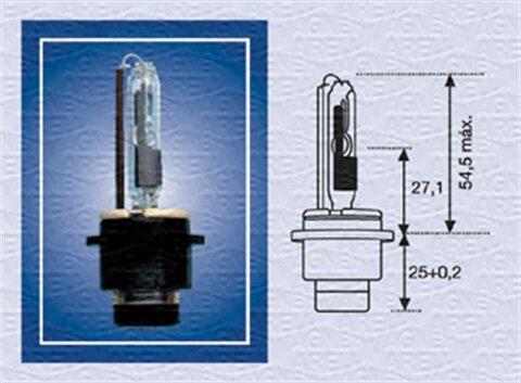 žiarovka pre diaľkový svetlomet MAGNETI MARELLI  -  - D2R (Plynova vybojka), 85V, 35W, P32d-3