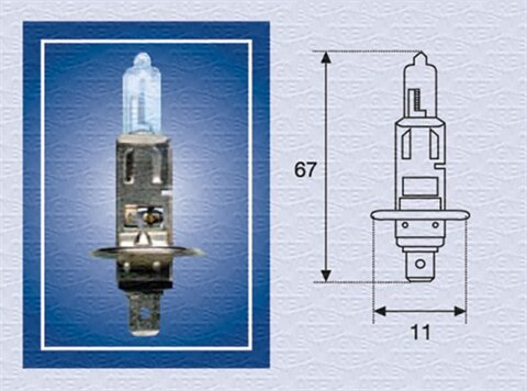 žiarovka pre diaľkový svetlomet MAGNETI MARELLI  -  - H1, 24V, 70W, P14,5s