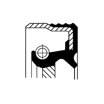 Tesniaci krúžok hriadeľa manuálnej prevodovky CORTECO  -