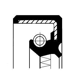 Tesniaci krúžok hriadeľa pomocného pohonu CORTECO  -