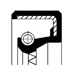 Tesniaci krúžok kľukového hriadeľa CORTECO  -