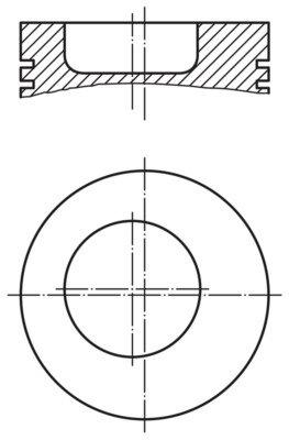 Piest MAHLE ORIGINAL  -  - 107,8mm