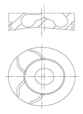 Piest MAHLE ORIGINAL  -  - 71,25mm