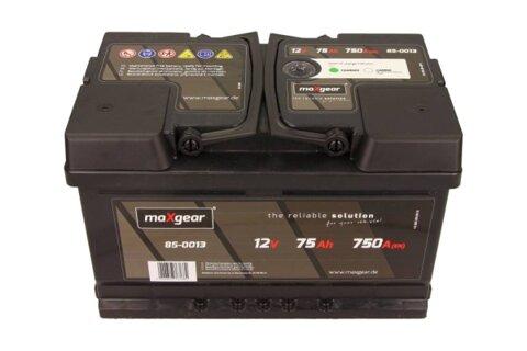 štartovacia batéria MAXGEAR - 12V, 75Ah, 750A, 278mm