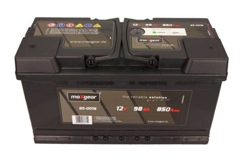 štartovacia batéria MAXGEAR - 12V, 98Ah, 850A, 353mm