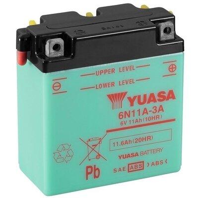 štartovacia batéria YUASA Conventional 6 Volt - 6V, 11,6Ah, 122mm