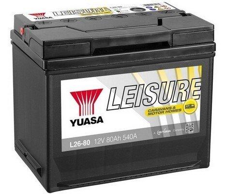 štartovacia batéria YUASA Leisure Batteries - 12V, 560A, 80Ah, 260mm