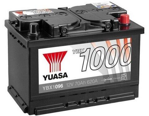 štartovacia batéria YUASA YBX1000 CaCa Batteries - 12V, 640A, 70Ah, 278mm