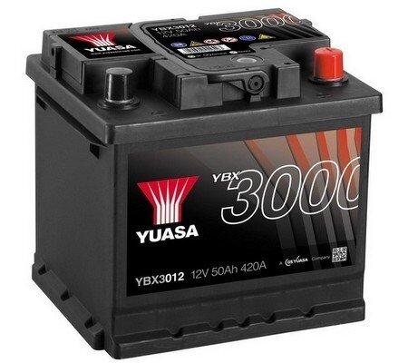 štartovacia batéria YUASA YBX3000 SMF Batteries - 12V, 450A, 52Ah, 207mm