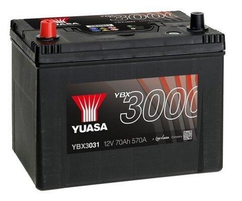 štartovacia batéria YUASA YBX3000 SMF Batteries - 12V, 630A, 72Ah, 260mm