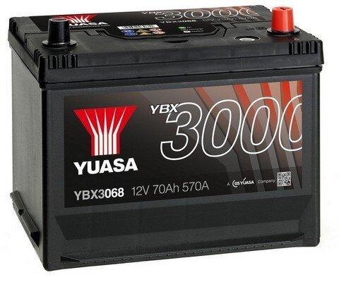 štartovacia batéria YUASA YBX3000 SMF Batteries - 12V, 630A, 72Ah, 269mm