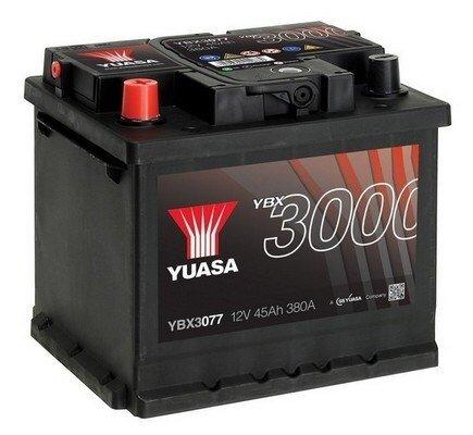 štartovacia batéria YUASA YBX3000 SMF Batteries - 12V, 380A, 45Ah, 207mm