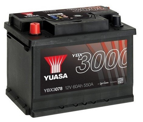 štartovacia batéria YUASA YBX3000 SMF Batteries - 12V, 550A, 62Ah, 243mm