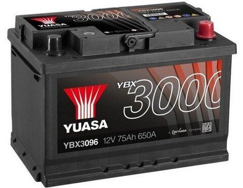 štartovacia batéria YUASA YBX3000 SMF Batteries - 12V, 680A, 76Ah, 278mm