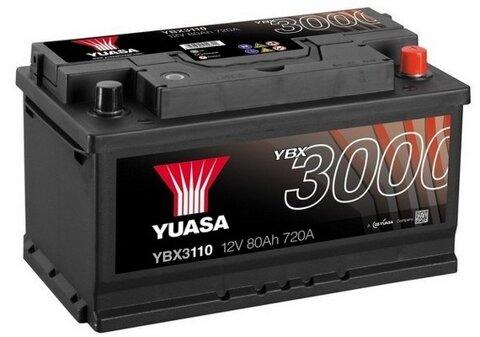štartovacia batéria YUASA YBX3000 SMF Batteries - 12V, 760A, 80Ah, 317mm