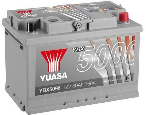 štartovacia batéria YUASA YBX5000 Silver High Performance SMF Batteries - 12V, 740A, 80Ah, 278mm
