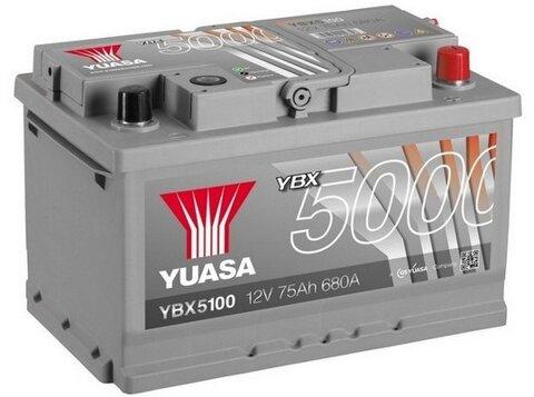štartovacia batéria YUASA YBX5000 Silver High Performance SMF Batteries - 12V, 710A, 75Ah, 278mm