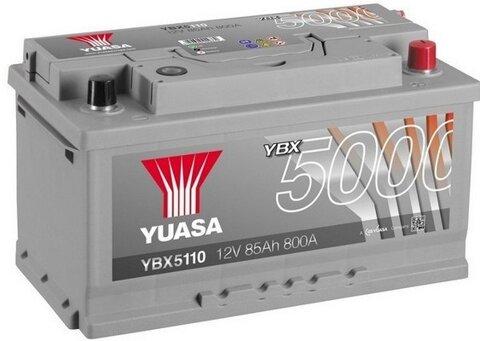 štartovacia batéria YUASA YBX5000 Silver High Performance SMF Batteries - 12V, 800A, 85Ah, 317mm