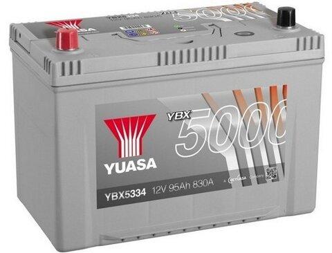 štartovacia batéria YUASA YBX5000 Silver High Performance SMF Batteries - 12V, 830A, 100Ah, 303mm