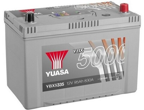 štartovacia batéria YUASA YBX5000 Silver High Performance SMF Batteries - 12V, 830A, 100Ah, 303mm