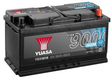 štartovacia batéria YUASA YBX9000 AGM Start Stop Plus Batteries - 12V, 850A, 95Ah, 353mm