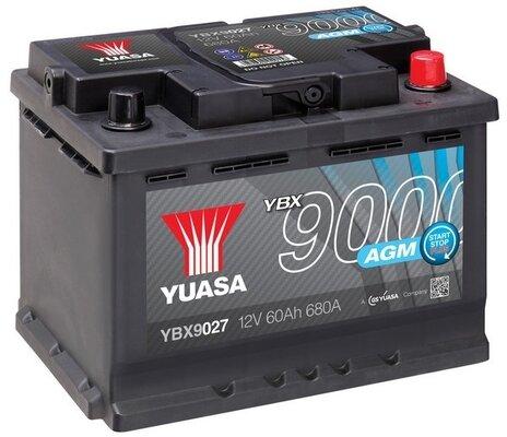 štartovacia batéria YUASA YBX9000 AGM Start Stop Plus Batteries - 12V, 640A, 60Ah, 242mm